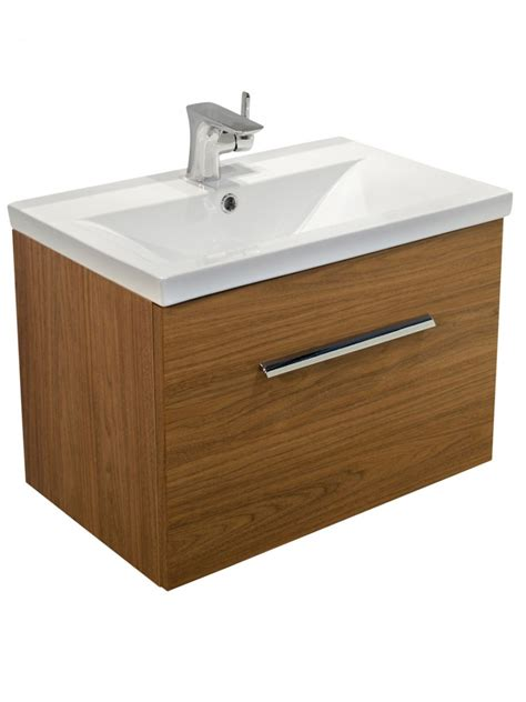 slimline bathroom furniture units walnut slimline 60cm wall hung vanity unit