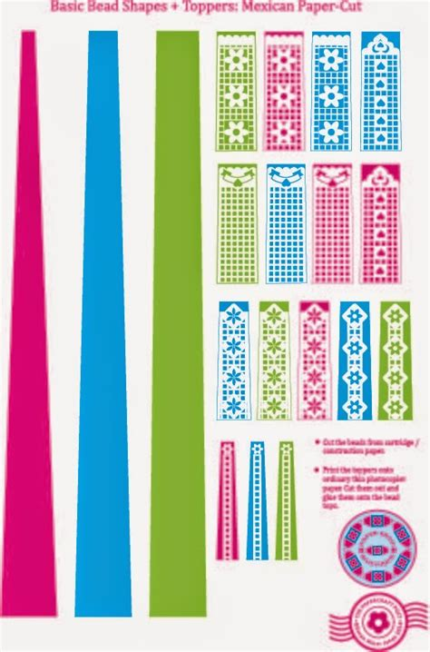printable paper jewelry the papercraft post paper bead printables mexican paper cut