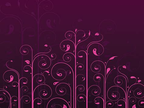 Pink Flowers Garden Powerpoint Templates Black Brown Flowers Fuchsia Magenta Free Ppt Ppt Templates