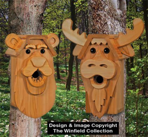 cedar bird house plans birdhouse wood patterns cedar bear moose birdhouse plans