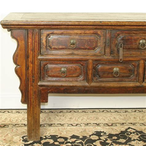 7 inch console table antique 68 inch console table 7 drawers