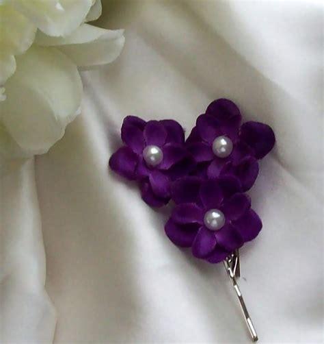 Wedding Hair Accessories Purple by Free Second Set Purple Hair Flower Flower Bridesmaid