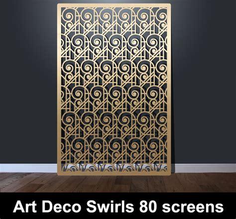 art deco swirls laser cut screens laser cut screens architectural home interiors