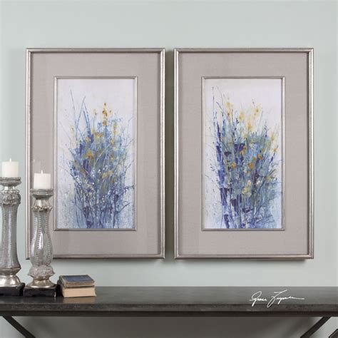 Uttermost Home Decor Indigo Florals Framed Set Of 2 Uttermost Wall Wall Home Decor