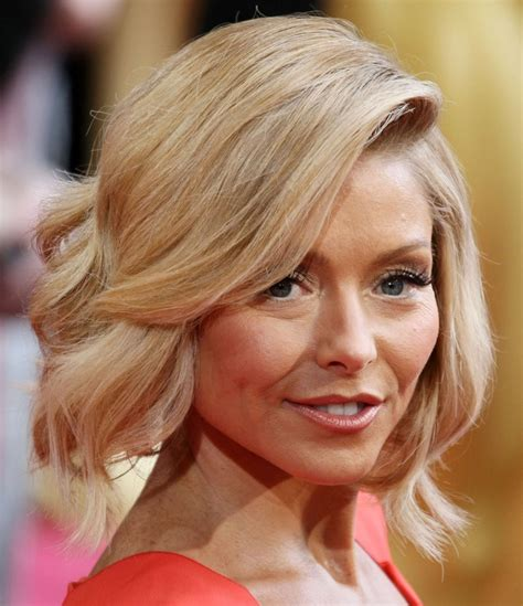 regis bob hairstyles kelly ripa photos photos hairstyles at the 86th annual