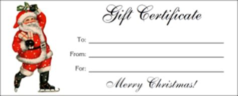 santa gift certificate template december 2015 a castle of books