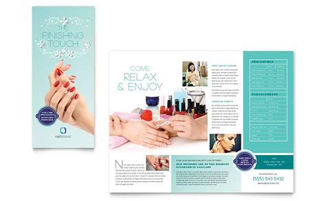 Nail Technician Brochure Template Word Publisher Nail Brochure Templates Free