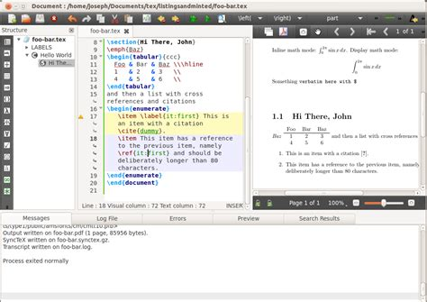 tutorial latex texstudio texstudio linux mint community