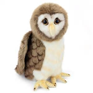 Owl Stuffed Animal by Handcrafted 9 Inch Lifelike Brown Owl Stuffed Animal By Hansa