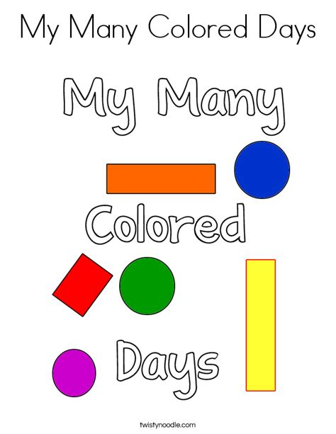 My Many Colored Days Coloring Pages my many colored days coloring page twisty noodle