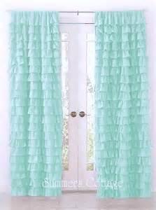 Aqua Color Curtains Dreamy Ruffled Curtain Drape Panel Shabby Cottage Chic Aqua Blue