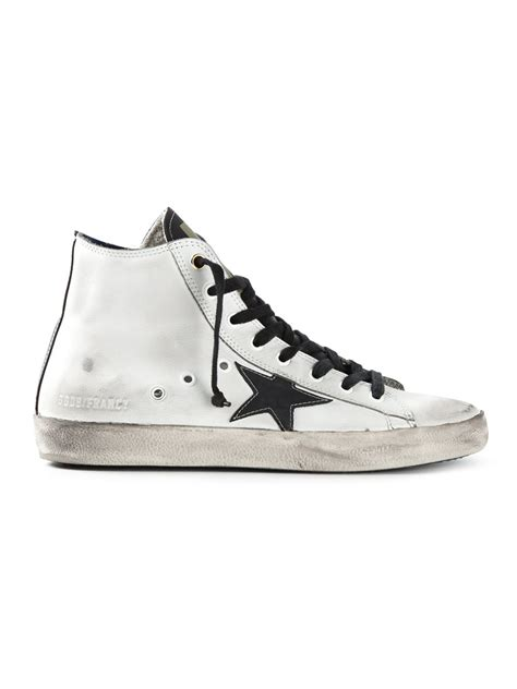 white high top sneakers for golden goose deluxe brand francy high top sneakers in