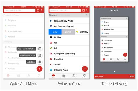 quick layout app quick add menu tabbed viewing and new design touches on