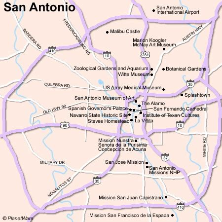 map of texas san antonio san antonio map with attractions
