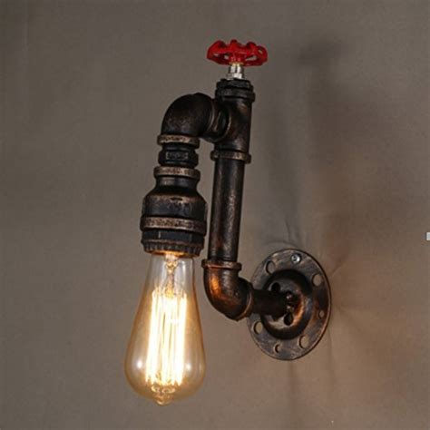 wandleuchte bad vintage sanyi vintage water pipe wall light fixture industrial