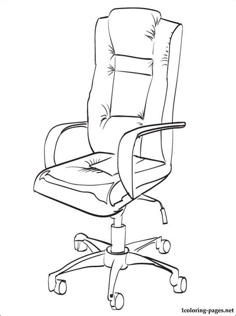 school chair coloring page office chair coloring page coloring pages