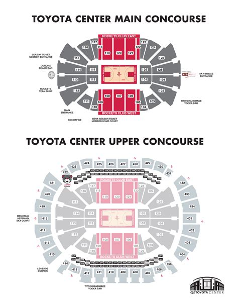 houston rockets seating concessions houston toyota center
