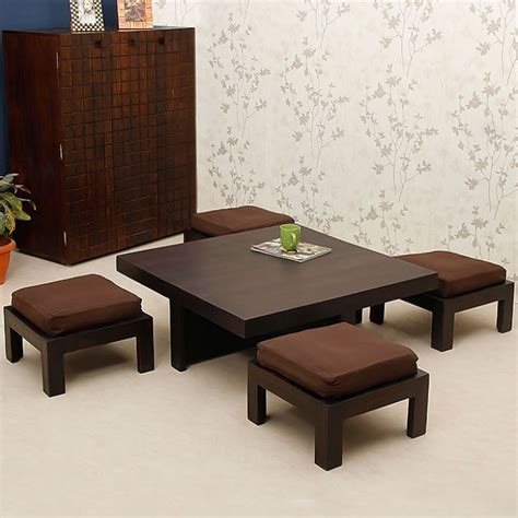 four stool coffee table trendz one coffee table with four stools stools