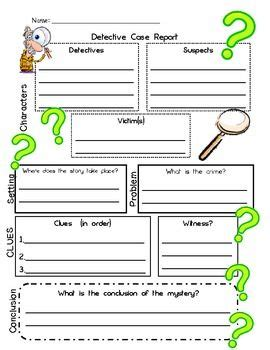 mystery book report projects detective report story map for use with mystery