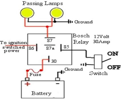 standard passing light relay wiring