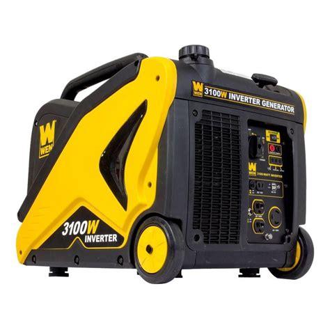 wen 3100 watt recoil start portable inverter generator