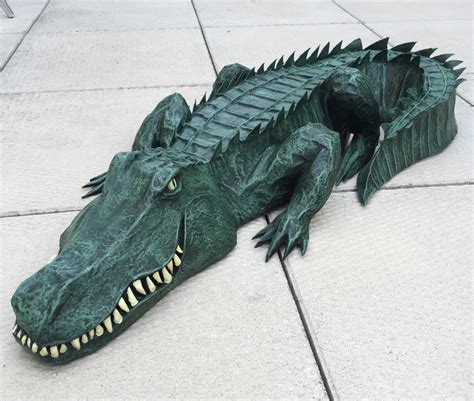 How To Make A Paper Crocodile - paper mach 233 alligator waterproofing and painting