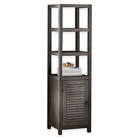 bed bath and beyond shelving drift 3 shelf wood tower cabinet bed bath beyond