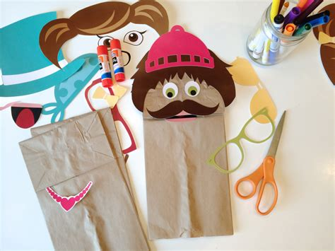 Puppet From Paper - free printable paper bag puppets