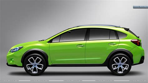 subaru xv green subaru xv concept side view green color wallpaper