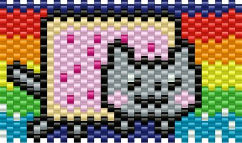 nyan cat pony bead patterns characters kandi