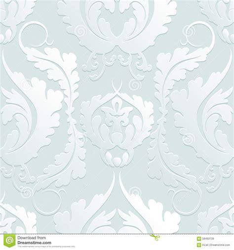 light pattern background vector seamless floral 3d pattern damascus elegant large flowers