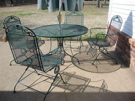 Furniture: Rod Iron Patio Set Patio Design Ideas Wrought