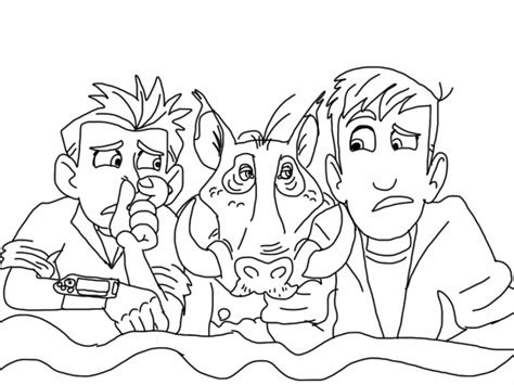 free kratts animals coloring pages