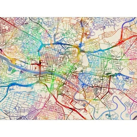 libro glasgow mapping the city glasgow street map art canvas print