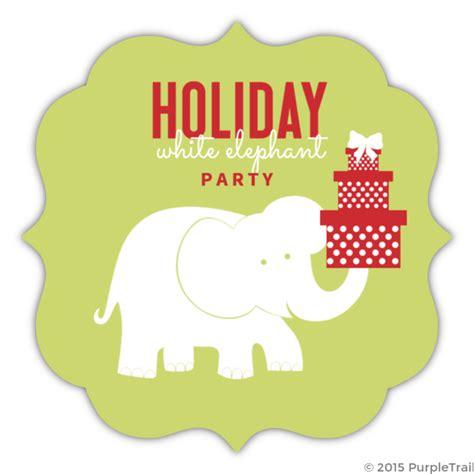 Green Circle White Elephant Party Invitation Holiday Party Invitations White Elephant Invitations Templates