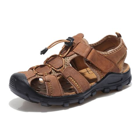 Sandal Sport Casuall buy summer s sandal plus size genuine leather shoes big slippers cowhide sandals