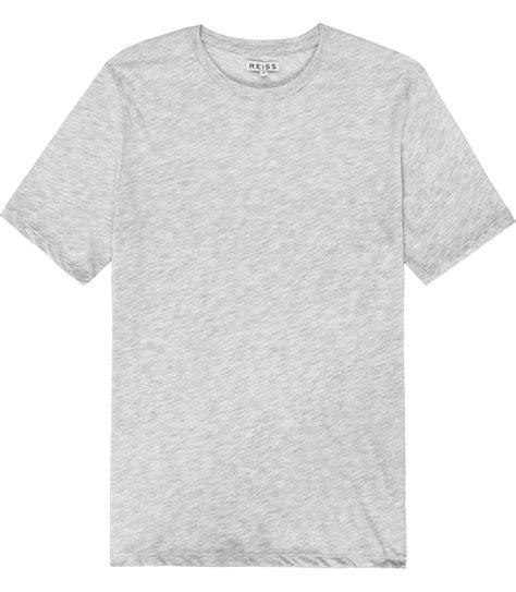 T Shirt Grey bless marl grey crew neck t shirt reiss