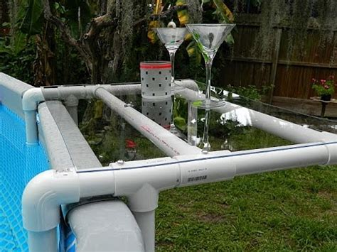 above ground pool side table diy pool shelf for an above ground pool diy youtube