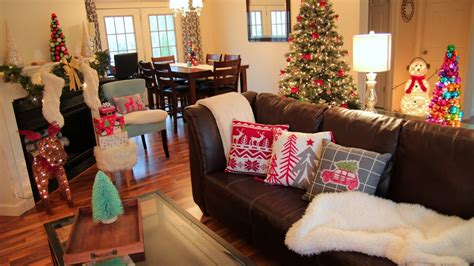 how do i decorate my house decorating for christmas christmas living room tour youtube
