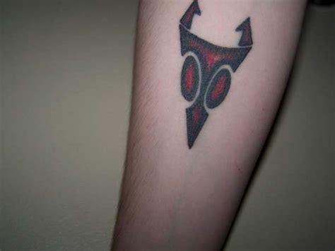 invader zim tattoos invader zim s irken symbol