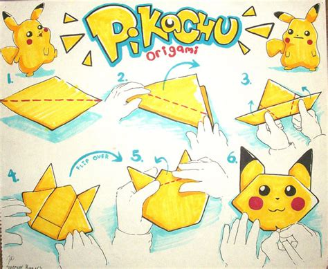 how to make a pikachu origami easy origami pikachu by toyspence on deviantart