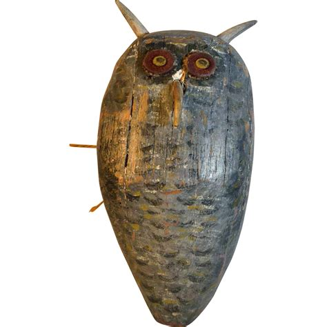 owl item horned owl barn decoy sold on ruby lane