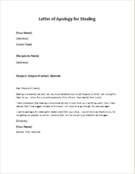 Apology Letter To Manager For Shoplifting Letter Of Apology For Stealing Writeletter2