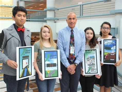 graphic design contest for high school students bolingbrook hs students sweep tollway map art contest
