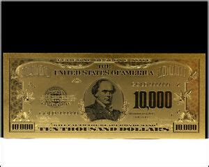 $10,000 Ten Thousand US Dollar Bill Gold US Banknote .999 ... $10000 Bill For Sale