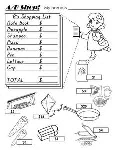 kindergarten worksheets descriptions sizes money