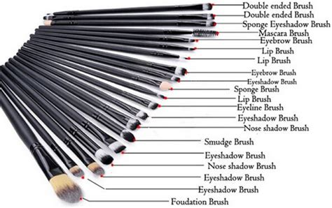 Tabung Kuas Make Up Brush Set 12 In 1 Bulu Gr Terbaru cosmetic make up brush 20 set kuas make up black jakartanotebook