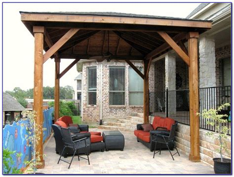 Diy Free Standing Patio Cover Plans   Home Decorating Ideas