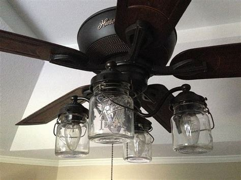 rustic farmhouse ceiling fan jar ceiling fan light kit only with vintage pints