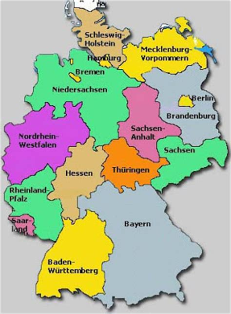 regions of germany map around the world maps germany regions map
